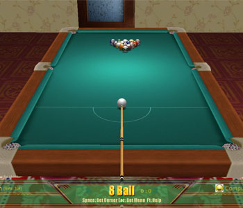Screenshot of 3D Billiards Online Games